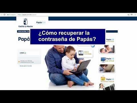 Recuperación de contraseñas de Papás 2.0 - 2018